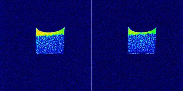 玻璃珠堆积孔隙模型核磁共振成像与弛豫图谱测试实验