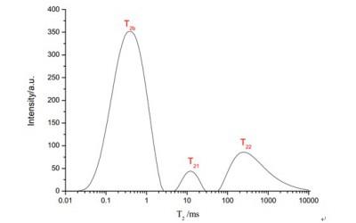 低场核磁共振技术表征湿多孔织物内部水分分布